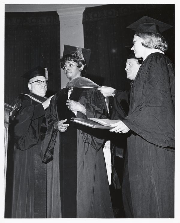 Elizabeth Duncan Koontz is awarded an Honorary Degree at the 55th convocation ceremony, June 7, 1969