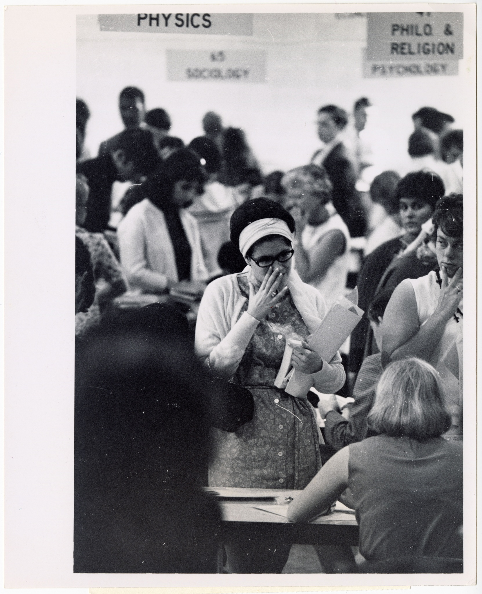 Student Registration in Clendenen Gym, September 1968