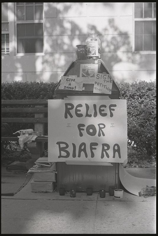 Relief for Biafra stand, American University, October 5, 1968