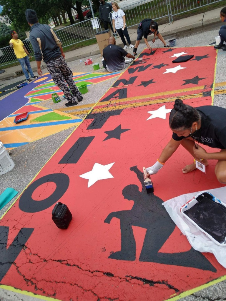 Rebecca Robinson, an Indianapolis artist and activist; interviewed by Claudia Vinci; Photo Credit: Michelle Pemberton/Indy Star