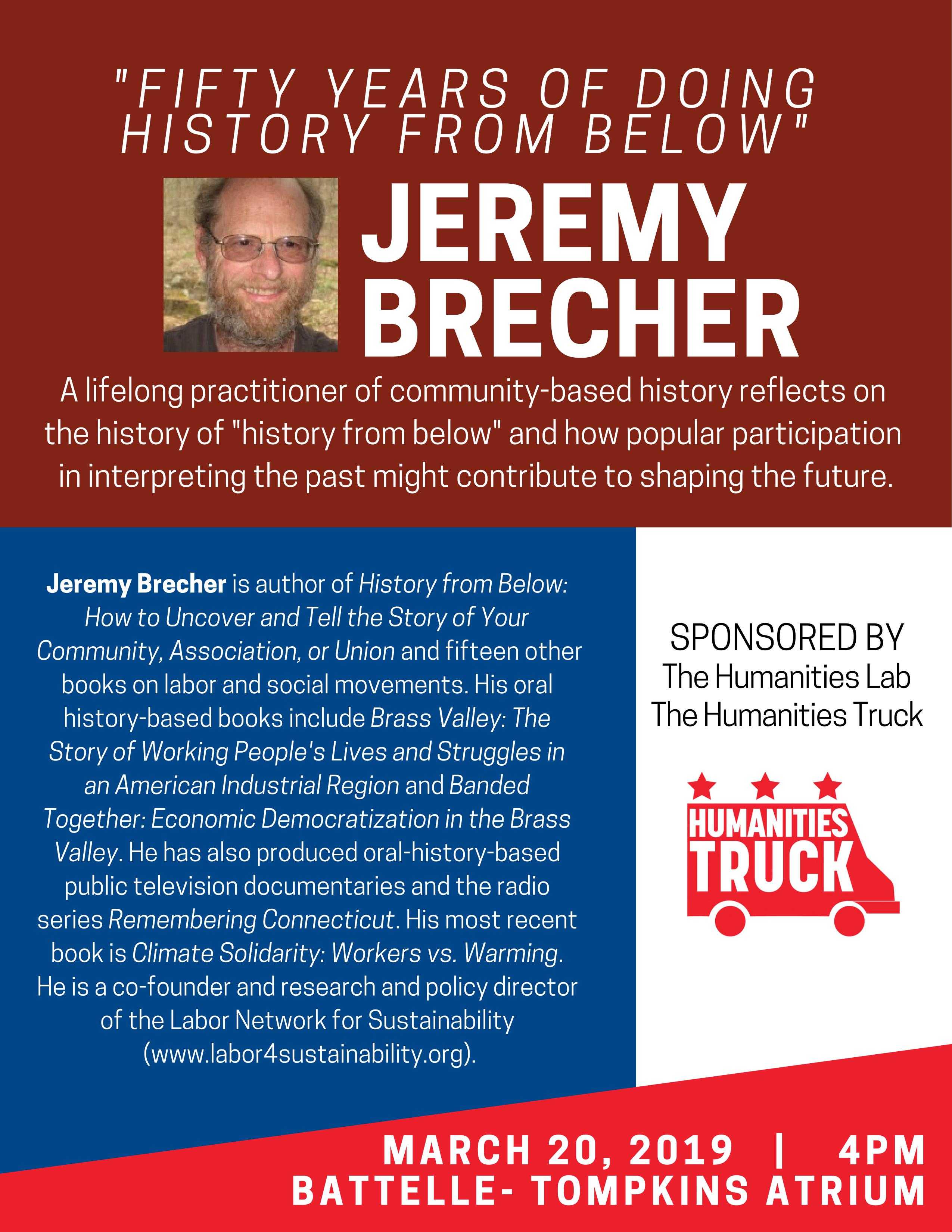 Jeremy Brecher Lecture Ad